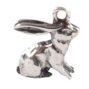 Rabbit 3D Sterling Silver Charm